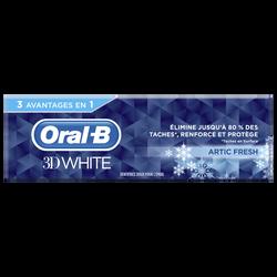 Dentifrice 3D white artic fresh ORAL B, tube de 75ml