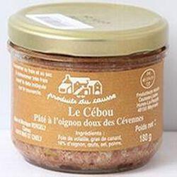 Le Cébou, pâté à l'oignon doux des Cévennes, Produits du causse, 180g