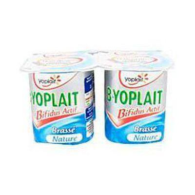 Yaourts brassés natures B de YOPLAIT, 4x125g