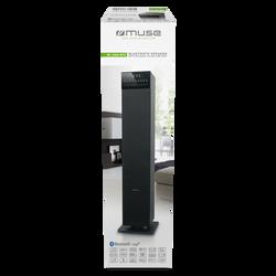 Tour de son MUSE m-1350btc 120w noir-bluetooth-tuner pll fm-compatiblecd,cd-r/rw,mp3-haut-parleurs 2.1 avec caisson de basse integre-nfc-ports usb lecture et charge-2 entrées aux.