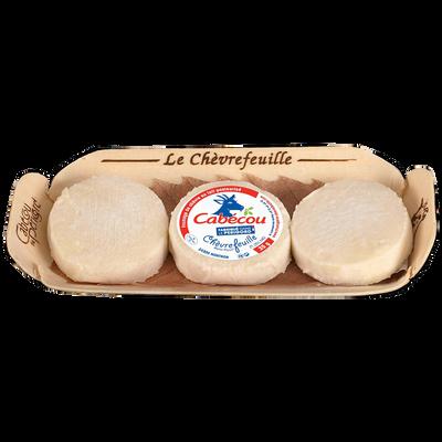 Cabecou au lait pasteurisé de chèvre 24,4%mg LE CHEVREFEUILLE 3X35G