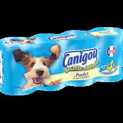 Aliment pour chien light Pâtée et Morceaux CANIGOU, 4x400g