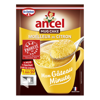Mon gâteau minute mug cake moelleux au citron ANCEL Dr.Oetker, sachetde 70g