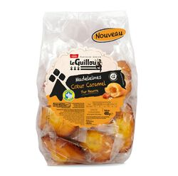 Madeleines Coeur Caramel Pur Beurre, Patisserie Gourmande Le Guillou, 480g
