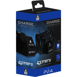 Cable usb x2+support manettes ps4 noir