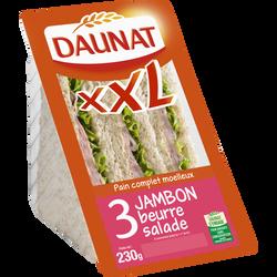 Sandwich triangle XXL jambon beurre DAUNAT, 230g
