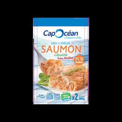 Saumon à la ciboulette prêts à poêler CAP OCEAN, 2x100g