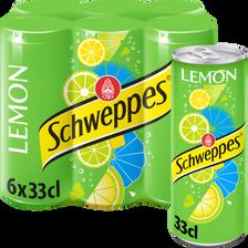 SCHWEPPES, lemon slim can 6x33cl