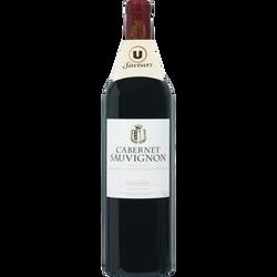 Vin rouge IGP Pays d'Oc Cabernet Sauvignon grande réserve U SAVEURS, 75cl