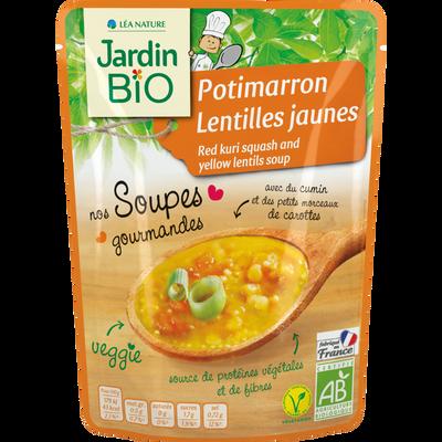 soupe potimarron lentilles jaune *  sachet individuel 260g