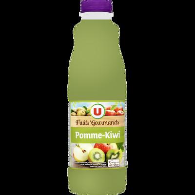 """Jus pomme kiwi """"fruits gourmands """" U, bouteille de 1l"""