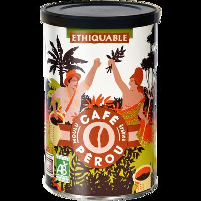 Café pure collector Pérou Bio ETHIQUABLE, boîte de 250g