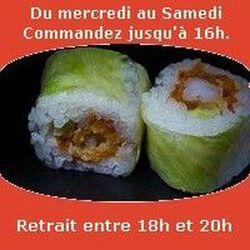 Spring rolls 6 pièces,Crevettes tempura maison sauce spicy concombre, SUSHI MONT BLANC
