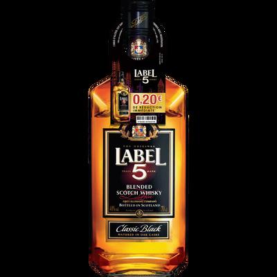 Scotch whisky LABEL 5, 40°, bouteille de 70cl + bri 0,20euros