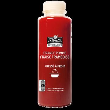 Florette Jus D'orange/pomme/fraise/framboise Pressé, Florette, Bouteille, 700ml