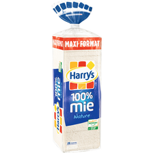 Pain mie nature 100% mie petite tranche HARRY'S, 650g