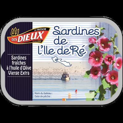Sardines Ile de Ré LES DIEUX, boîte 1/6, 115g