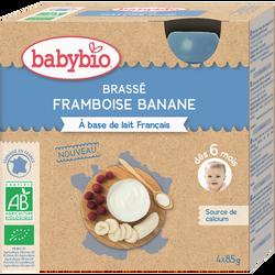 Gourde brassé framboise banane BABYBIO, 4X85g