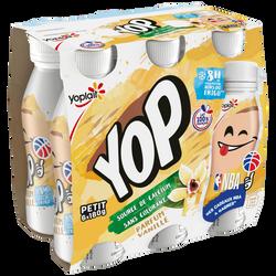 Yaourt à boire sucré aromatisé à la vanille P'TIT YOP 6x180g
