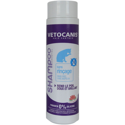 Shampooing sans rincage chat, VETOCANIS, 150g