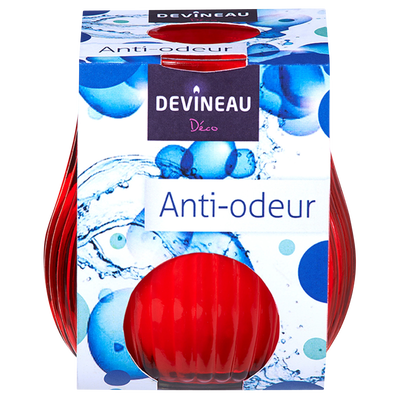 Contenant pour bougie anti tabac, rouge