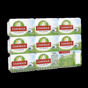 Chavroux Fromage Au Lait De Chèvre Pasteurisé Chavroux, 13.5%mg, X9 Soit 162g