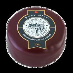 Cheddar ruby mist brandy et porto blanc au lait pasteurisé 31,4%mg 200g
