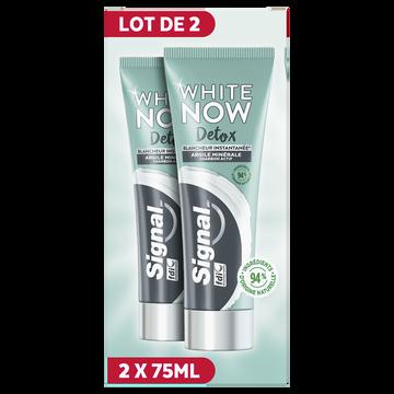 Signal Dentifrice Blancheur Argile/charbon Signal 2x75ml