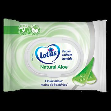 Lotus Papier Toilette Humide Aloe Douceur Lotus, 42 Lingettes