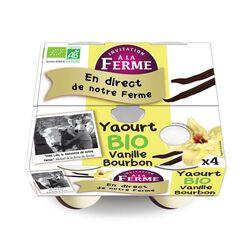 Yaourt aromatisé à la vanille de Bourbon bio  FERME PEARD