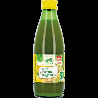 Pur jus de citron et de bergamote bio JARDIN BIO 25cl