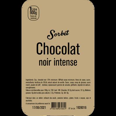 Sorbet chocolat noir intense LA TURBINE A SAVEURS, 1 litre