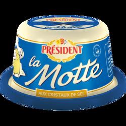 Beurre aux grains de sel de mer La Motte PRESIDENT, 80%mg, 250g