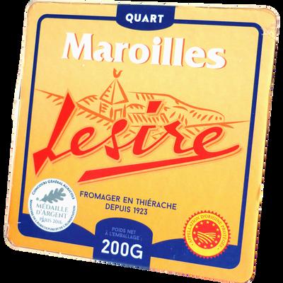 Quart maroilles lait pasteurisé 25% de MG LESIRE, 200g