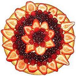 Tarte aux fraises, framboises et myrtilles, 6 parts, 650g