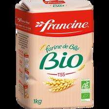 Farine de blé bio, FRANCINE, 1kg