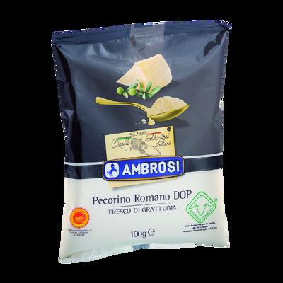 Pecorino au lait cru de brebis rape frais AMBROSI, 32% de MG, 100g
