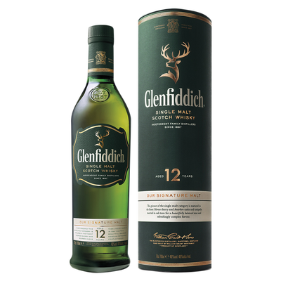 Scotch whisky GLENFIDDISH, 40°, 12 ans d'âge, 70cl sous étui