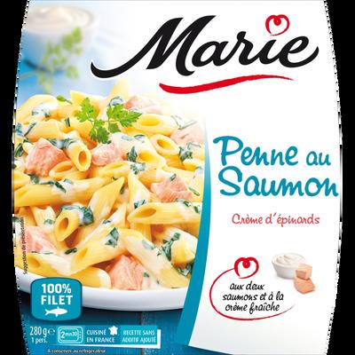 Penne au saumon et crème d'épinard MARIE, 280g