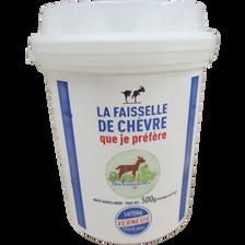 Faisselle de chèvre au lait pasteurisé CABREIGNAC, 35% de MG, 500g