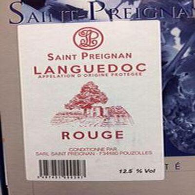AOP Languedoc Saint Preignan rouge 5L