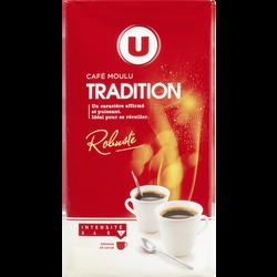 Café Tradition moulu U, paquet 250g