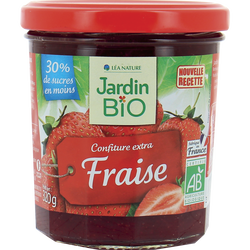 Confiture extra JARDIN BIO, Fraise, 320g