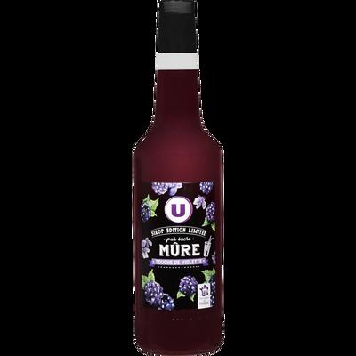 Sirop de mûre touche de violette édition limitée U, bouteille de 70cl