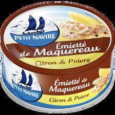 Petit Navire Emietté De Maquereau Citron & Poivre , 110g