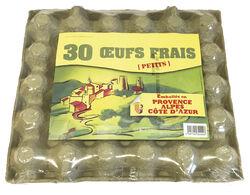Plaque de 30 Œufs frais - Cal.