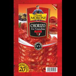 Chorizo fort, MORONI, 20 grandes tranches de 100g