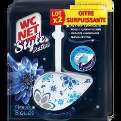 Bloc style active fleurs bleues WC NET, 2x36, 5g offre spécial