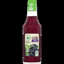 Sirop cassis U BIO, bouteille en verre de 50cl