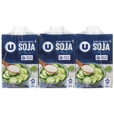 Soja cuisine végétal fluide U, brique de 3x20cl